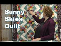 "http://missouriquiltco.com -- Jenny Doan shows how to make the beautiful, yet simple Sunny Skies quilt designed by her daughter Natalie.  This quilt is featured in the new Fons & Porter bookazine entitled ""Quilting Quickly"" featuring 17 projects from MSQC.  Get it here while quantities last: http://www.missouriquiltco.com/shop/detail/10951     To ..."
