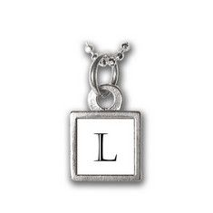 Mini Square Initial Charm~Necklace $24.00 Tiny and cute our initial charms are a great way to show off your favorite letter or number