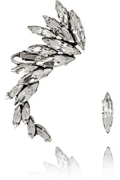 Silver & Gold Ear Cuff for New Year's Eve Party by Swarvoski