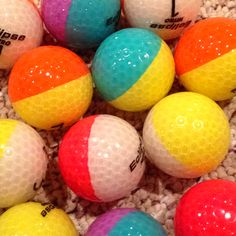 Two color golf balls