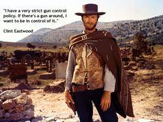 #Clint Eastwood #cowboy #quotes on #guns
