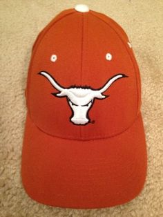 NEW Zephyr Texas Longhorns DHS Fitted Hat Cap - Burnt Orange 7 - 7 1/8 Small