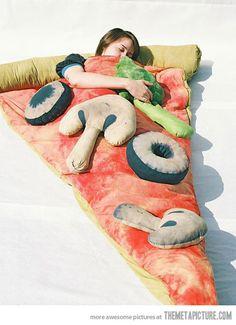Slice of Pizza Sleeping Bag.. hahahahaha,  mint