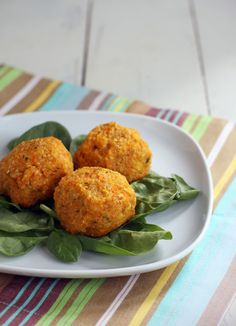 Sweet Potato Quinoa Balls recipe. An easy vegetarian recipe even I can make? Sweet! - use flax egg