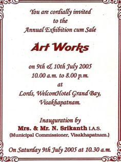 Invitation card text for exhibition invitationswedd art exhibition invites samples google search invitation ideas stopboris Choice Image