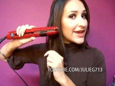 another curl your hair with a flat iron