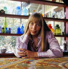 Joni Mitchell - Love these images of Joni in her house in Laurel Canyon