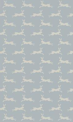March Hare Aqua från Jane Churchill
