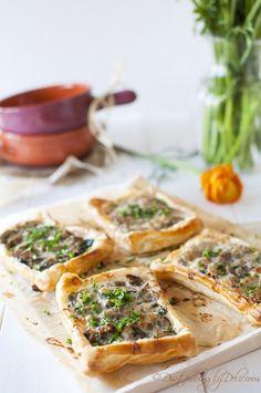Mushroom Tarts. Click for recipe #appetizer #recipe #gameday #food #cook #snack #starter #mushroom