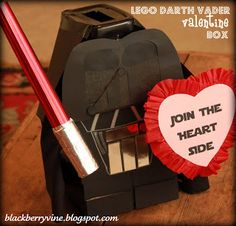 The Blackberry Vine: Lego Darth Vader Valentine Box