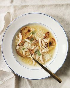 Roast Lemon Chicken and Rice Soup Recipe