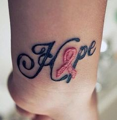 I like this but with a teal pcos ribbonreminding me to hope everyday! Ink | tattoos picture cancer ribbon tattoos