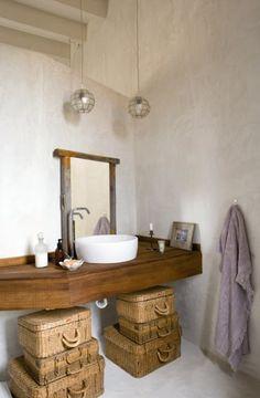 Muebles para baño estilo rustico