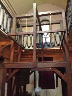 The Gallows in the Mauch Chunk prison where several supposed Molly Maguires were executed.