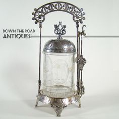 What is a pickle castor?   Victorian Silver Plated Pickle Castor with Winged Cupids - 1880's from ...