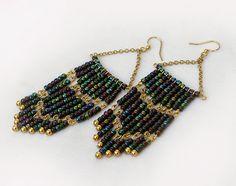 Artistic Life: Peacock Chandelier Earrings