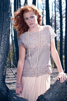 Such a gorgeous crochet women's top.  These photographs were taken in a burned section of Colorado. So haunting!  Quartz Lace Top - Crochet Me