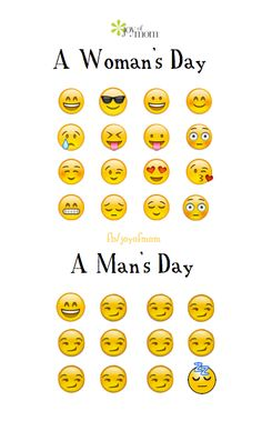 A woman's day - A man's day. <3 Join us on Joy of Mom for more reasons to smile. ;) <3 https://www.facebook.com/joyofmom  #quotes #women #men #day #joyofmom