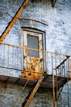 #rustic #door #building #bricks