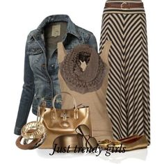 Outfits in earthy to