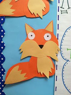 "This is an idea for a fox template design that could be used for Roald Dahl's book ""Fantastic Mr. Fox."""