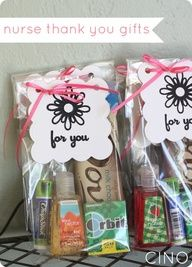 Great idea! Make these for the awesome nurses whenever while u are in hospital having baby.