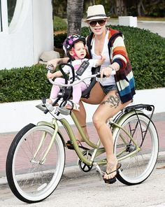 #Pink bikes with daughter Willow in Florida