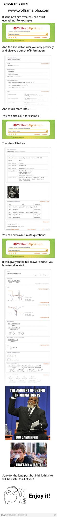 Wolfram Alpha=The best website ever.  Seriously...check it out!!!!