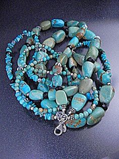 Turquoise Crystals Sterling Silver 4 Strand SILPADA...another vintage must have!