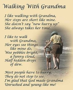 Loving Quotes For Grandma- Thank you grandma for teaching me how to do a great job. Thank you NICK for being Grammys best friend.