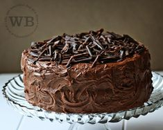 The most AMAZING chocolate cake ever... chocolate cake mix with mini chocolate chips, sour cream, and pudding mix added...