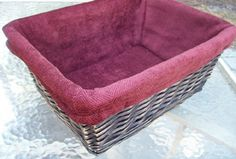 how to make a fabric basket liner