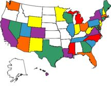 14 states I haven't been to....yet!