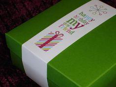 Creating custom gift wraps - from Creative Memories