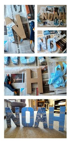 DIY Baby name letters for the nursery