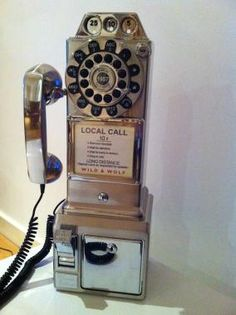 Pay-telephone '1950's Diner Chrome' 1950s diner, vintag time, scenic design, retro design, food photographi, american pie