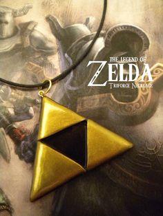 triforc necklac, stuff, geek polymer clay, legend, clay zelda, gifts, know zelda, game, geek center