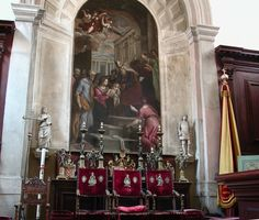 San Giorgio Maggiore - Venice, Italy   Sacristy - 'Purification of the Virgin' by Palma Il Giovane