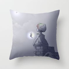 Second Star to the Right Throw Pillow by HYRenee - $20.00