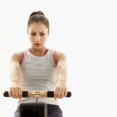 Not sure what to do on the rowing machine at the gym? Try these three moves for seriously sculpted arms.  #fitness #exercise