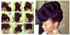 Twisted Updo | 20 Natural Hairstyles To Combat Summer Heat And Humidity