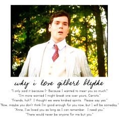 Gilbert Blythe and Teddy Lawrence. Proof that not all the good men live in England.
