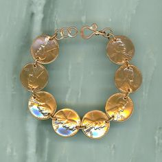 1964 Penny Coin Bracelet 50th Anniversary Gift Jewelry 1964 50th Birthday Gift Women on Etsy, $43.28 CAD