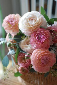 Bouquet of ranunculus - one of my favorite flowers!