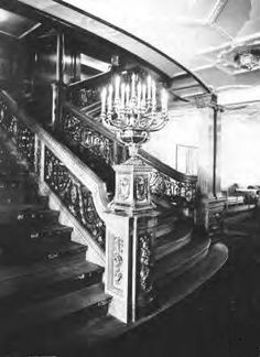 First case forward grand staircase, level 3, but could be a lower staircase if the titanic
