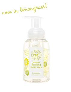 Honest Foaming Hand Soap in Lemongrass #nontoxic #ecofriendly