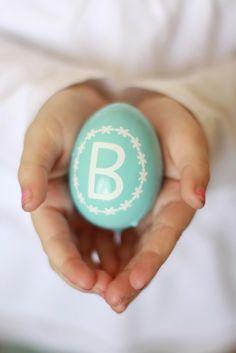 DIY Monogrammed Easter Eggs