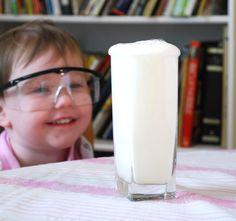 Preschool Science Experiments: Lemon Juice Explosion