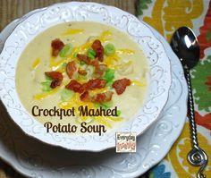 Crock Pot Mashed Potato Soup