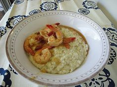 Shrimp and Boursin Cheese Grits recipe
